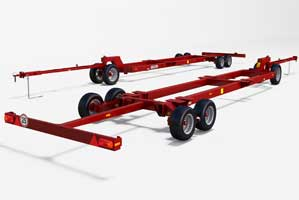 Double-axe header transporting Trolley UNI CART 4000